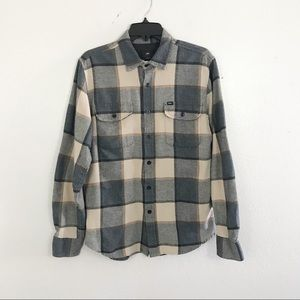 Men's Obey Plaid Flannel Size Small